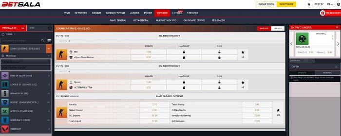 apuestas eSports en Betsala